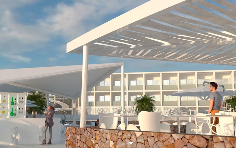 Blanco hotel formentera white gold for Hotels formentera