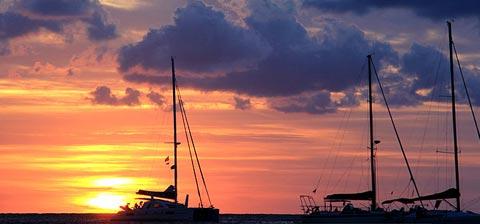 cala saona puesta de sol