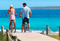 Rental and offers of bicycles in Formentera.