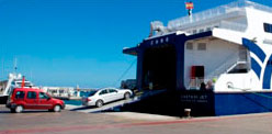 Schedules and ferry booking with own car between Ibiza and Formentera.