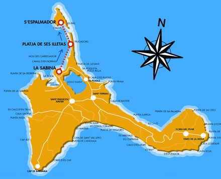 Guia De Playas De Formentera Playa De S Alga En Espalmador
